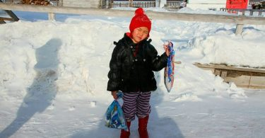 Saglana Salchak, 4-year-old girl hero walks miles in freezing cold